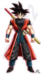 Xeno Goku(fighterZ style)(Fanmade) by Black-X12