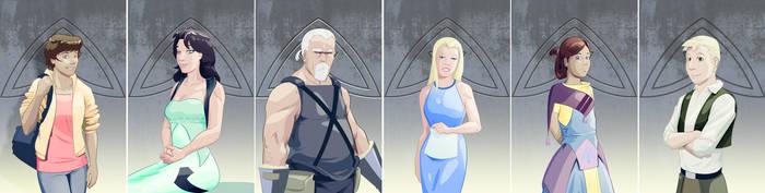 Line of Ruin Characters by DanielHooker