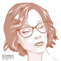 Digital Dailies - Portrait - Eve Beauregard by DanielHooker