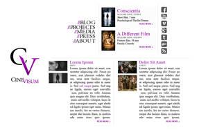 CineVisum 2011 website design by FutureMillennium