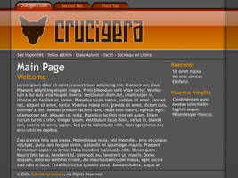 Crucigera 2006 website design concept by FutureMillennium