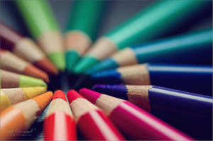 Rainbow pencils by farashenka