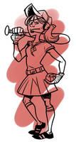 TF2 Genderswap: Scout by jinxville