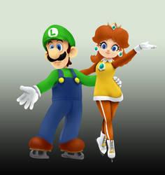 Luigi x Daisy - sochi shading study by 12luigi