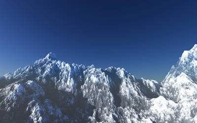 An alpine landscape. by greenhybrid