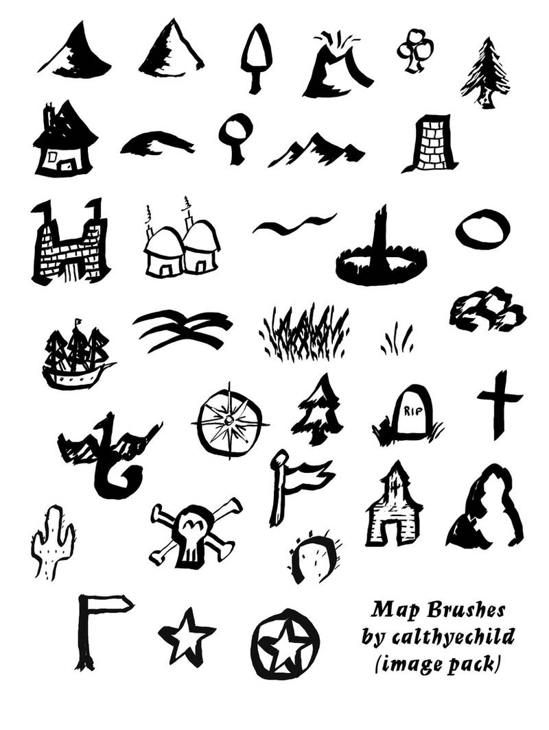 Tolkien Map Brushes image pack by calthyechild