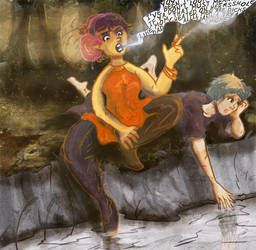 Leawyn and Maera by calthyechild