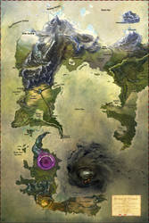 The World of Hymar Full Color Painting Cartography by calthyechild