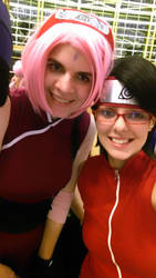 Mommy and Daughter Selfie (Sakura and Sarada) by thatsthatonegirl