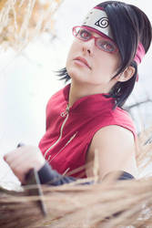 Happy Pause Photo - Sarada's Sharingan by thatsthatonegirl