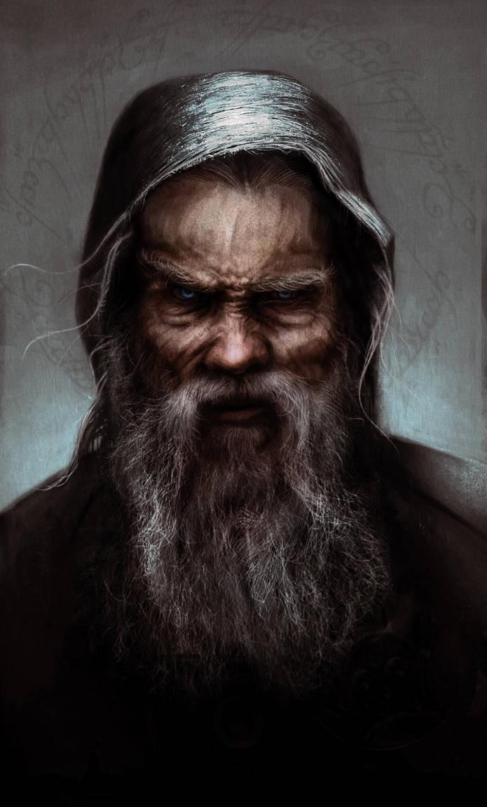 Saruman as Sharkey by Leone-art