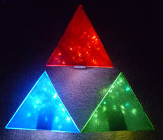 LED Triforces! 3 by Linksliltri4ce