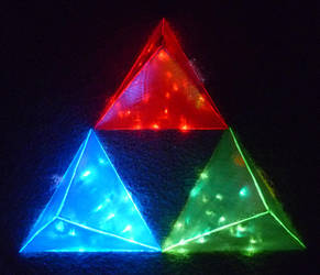 LED Triforces! 4 by Linksliltri4ce