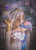Queen of Hyrule and Baby Zelda - JrTri4ce by Linksliltri4ce
