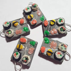 Sushi Plate Charms. by Darxen