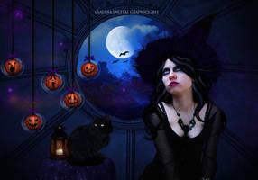Halloween Night by MysticSerenity