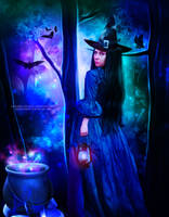 Witch of the Forest by MysticSerenity