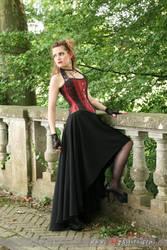 Corset + Madeleine Vionnet skirt by Esaikha