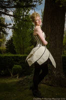 White overbust corset dress 2011 collection ' by Esaikha