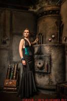 Turquoize underbust corset dress 2012 collection by Esaikha
