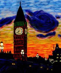 Big Ben a la Van Gogh Acrylic by AkatsukiFan505