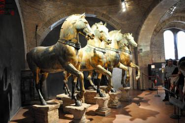 Saint Mark Basilika - Horses by lailalta