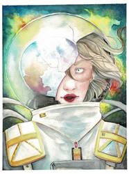 Broken in Space- Watercolor by EstaArt