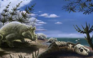 Estemmenosuchus by dinoved