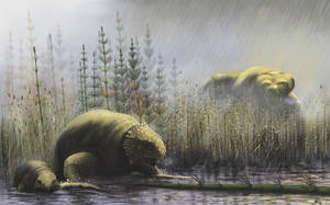 Predatory therocephalus Gorynychus hunts for Delta by dinoved