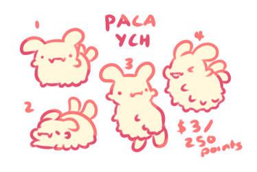 Paca YCH [Open] by cakelegs