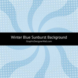 Winter Blue Sunburst Vector Background (SVG) by GraphicDesignerWall