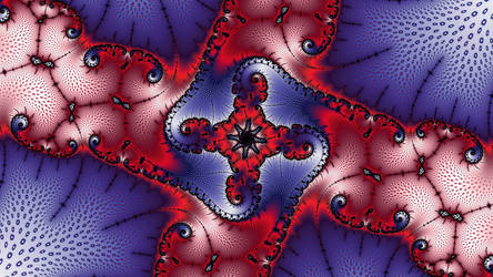 Free, stock, a red bleu -Christmas Fractal by FractalCaleidoscope