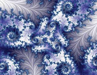 Free, stock,  Blue White Winter fractal by FractalCaleidoscope