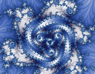 Free, stock Blue White winter Fractal by FractalCaleidoscope