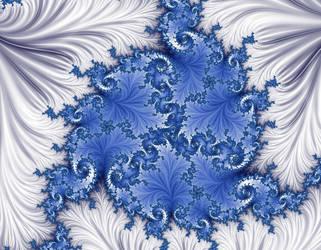 Free, stock,  Blue White Christmas-Winter by FractalCaleidoscope