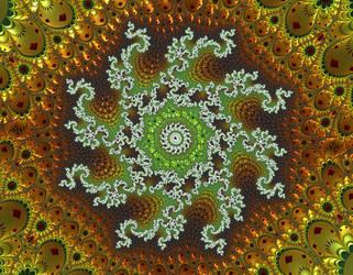 Free, stock, Green gold Christmas-winter joy by FractalCaleidoscope
