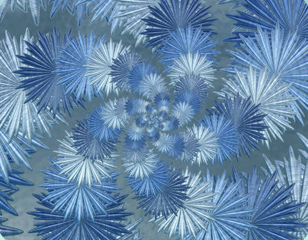 Free, stock, Winter fractals blue ice stars by FractalCaleidoscope