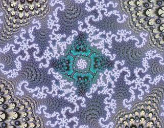 Free, Stock,  Blue green Christmas-Winter fractal by FractalCaleidoscope