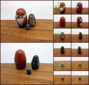 Woodland Animals - Miniature Nesting Dolls by Maylar