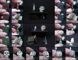 Tattoo Skull Miniature Set by Maylar