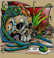 alien skull by MADNAPPY