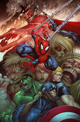 Attack On Avengers by erickarciniega