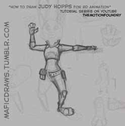 Judy Hopps of Zootopia for 2D animation by moremagic