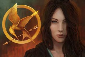 Katniss, The Hunger Games by NessaYavi