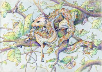 Iridescent dragon by ProstoFILYA