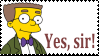 Mr. Smithers Yes, Sir! Stamp by LadyMortiana