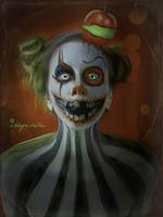 Sour Apple Clown by mshellee
