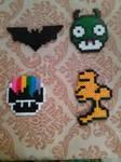 Batman, Mushrooms, and Woodstock by JokerinaQuinn