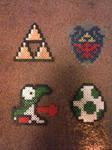 Yoshi, Egg, TriForce, Shield by JokerinaQuinn
