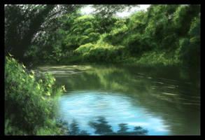 Landscape Speedpaint - Pond by Temiree